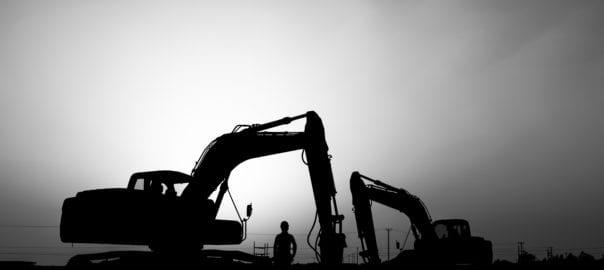 Mining site silhouette