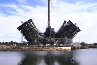 Demolition of the Northern Power Station in Port Augusta